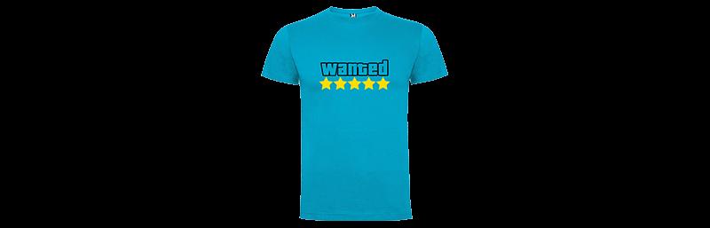 Tričko pro hráče s potiskem Hardcore Wanted - Světle modré