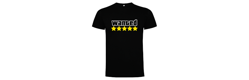 Tričko pro hráče s potiskem Hardcore Wanted - Černé