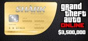 Grand Theft Auto V Online The Whale Shark Cash Card 3,500,000$