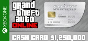 Grand Theft Auto V Online Great White Shark Cash Card 1,250,000$ Xbox One