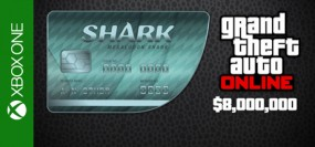 Grand Theft Auto V Online Megalodon Shark Cash Card 8,000,000$ Xbox One