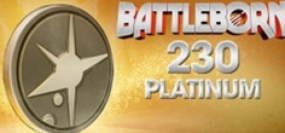 Battleborn 230 Platinum Currency