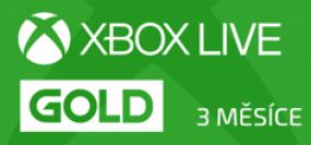 Microsoft Xbox Live Gold členství 3 měsíce